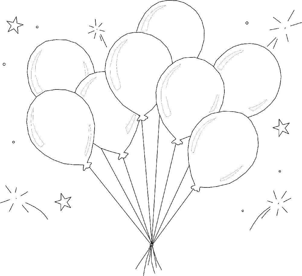 Gambar Mewarnai Balon 5