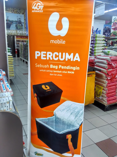 Reload U Mobile Top Up Giant Supermarket