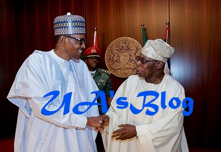JUST IN: At Last, Buhari Meets Gov. Fayose, His Arch-enemy Face-to-face, Obasanjo Too In Aso Rock