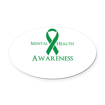 Mental Health Awareness Oval Car Magnet $5.99
