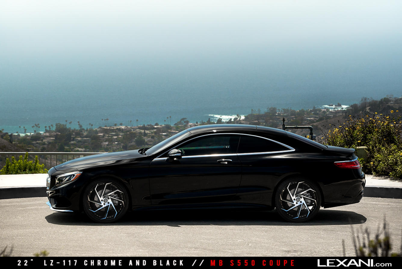 Mercedes benz s550 coupe on 22 39 39 lexani wheels benztuning for Mercedes benz tire rims