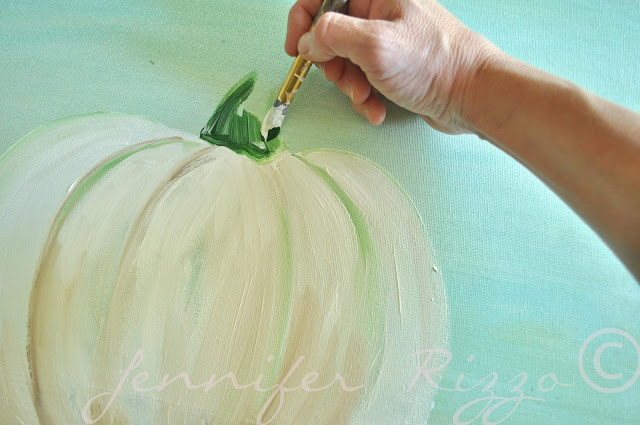 How to paint a pumpkin canvas, art skills not required!!!how to paint the stem