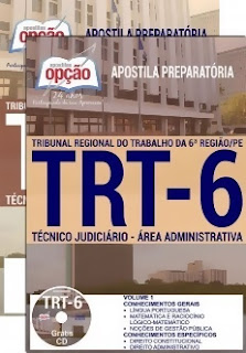 Apostila Concurso TRT-PE 6ª região 2018