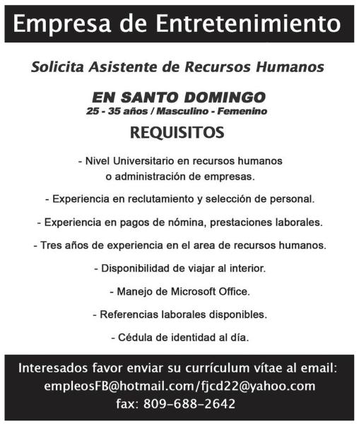 Curriculum Vitae Asistente De Recursos Humanos Mediagallery