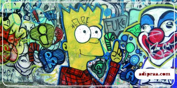 Mural Karakter Animasi Kartun Bart Simpsons | adipraa.com