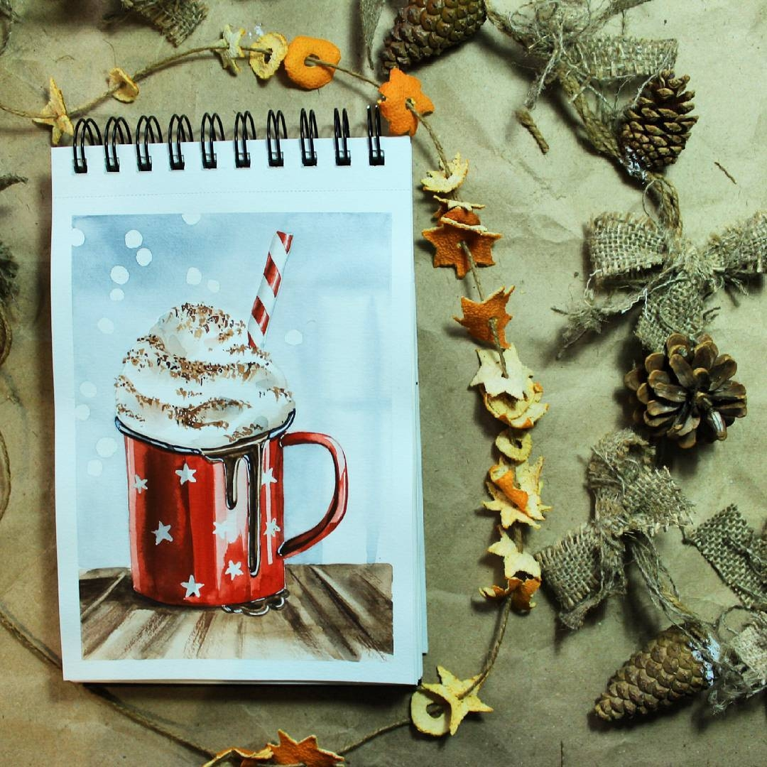 11-stepashkina-Cakes-Pastries-and-Drinks-Food-Art-Drawings-www-designstack-co