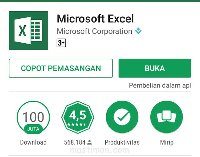Cara lengkap menggunakan Ms.Exel di Android dengan mudah