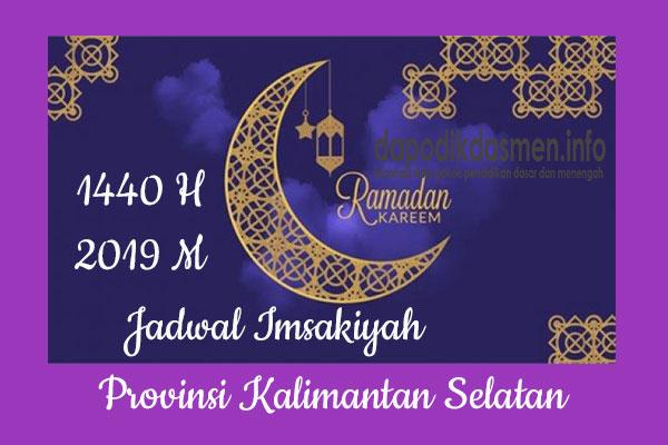 Jadwal Imsakiyah Ramadhan Provinsi Kalimantan Selatan