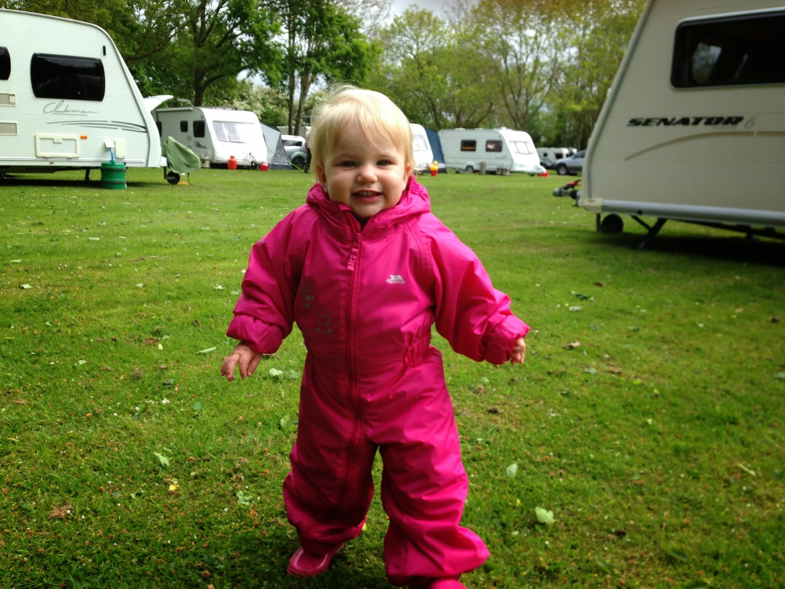 Tin Box Tot in her waterproofs