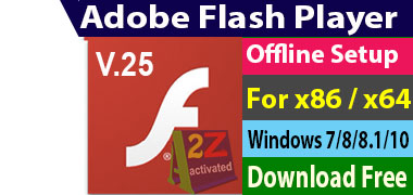 Offline Installer] Adobe Flash Player 25 Download Free - A2Z