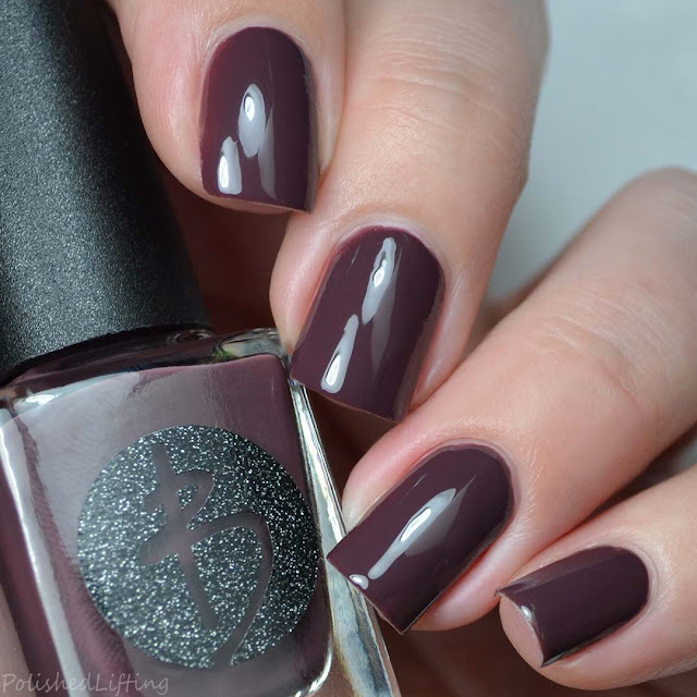 brown creme nail polish