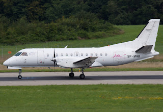 Saab 340 SP-MRB of SkyTaxi at Geneva (GVA)