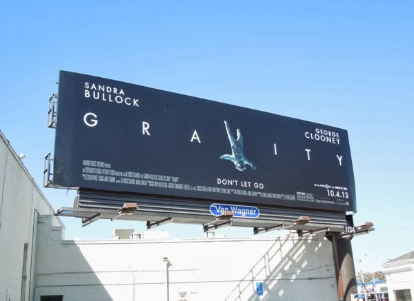 Gravity movie billboard