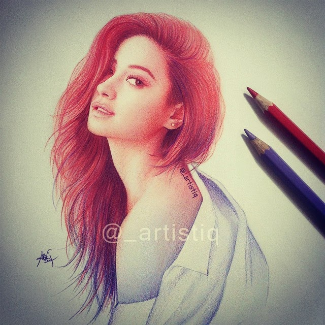 09-Shay-Mitchell-Cas-_artistiq-Colored-Celebrity-and-Cartoon-Drawings-www-designstack-co