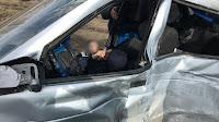 В Туймазинском районе «десятка» превратилась в груду металла после бокового удара от большегруза «SСANIA»