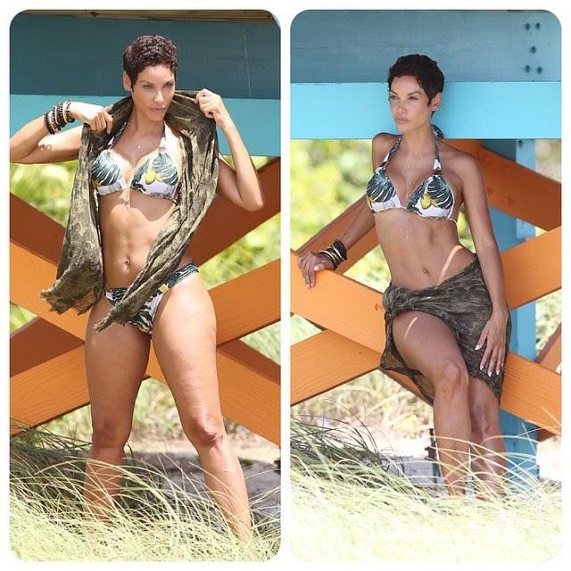 842b91dc21 Kim Kardashian Hollywoods: Nicole Murphy, 47, shows off her sexy ...