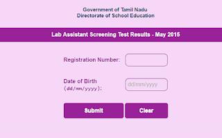 lab assistant result published district wise mark list