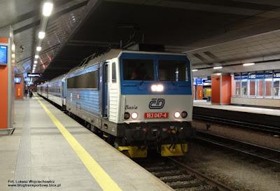Lokomotywa 163 047-4 z poc. interREGIO nr 3053, stacja Kraków Główny