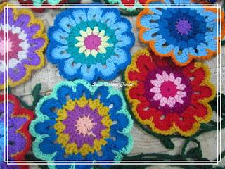 free crochet flower motif,