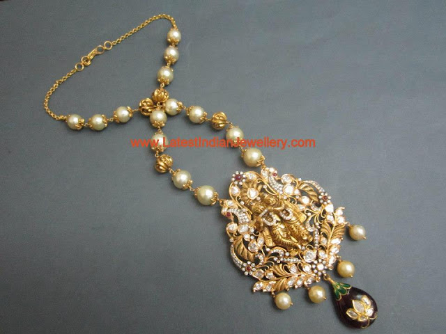 Radha Krishan Pendant Pearl Chain