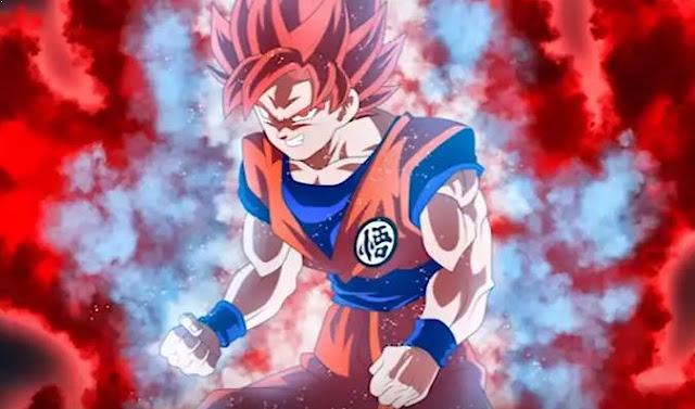 Form baru Goku merupakan Gabungan dari Super Saiyan God dan Super Saiyan Blue