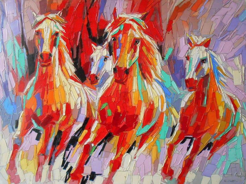 Cuadros modernos pinturas y dibujos im genes de caballos - Cuadros espectaculares modernos ...