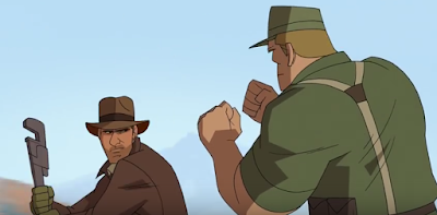 animated indiana jones cartoon