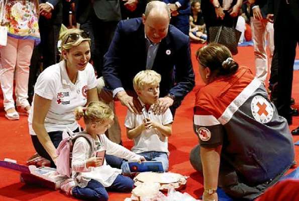 Prince Albert, Princess Charlene, Crown Prince Jacques and Princess Gabriella attended World First Aid Day 2018