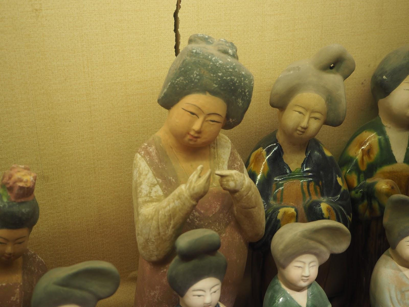 ceramic statue of woman