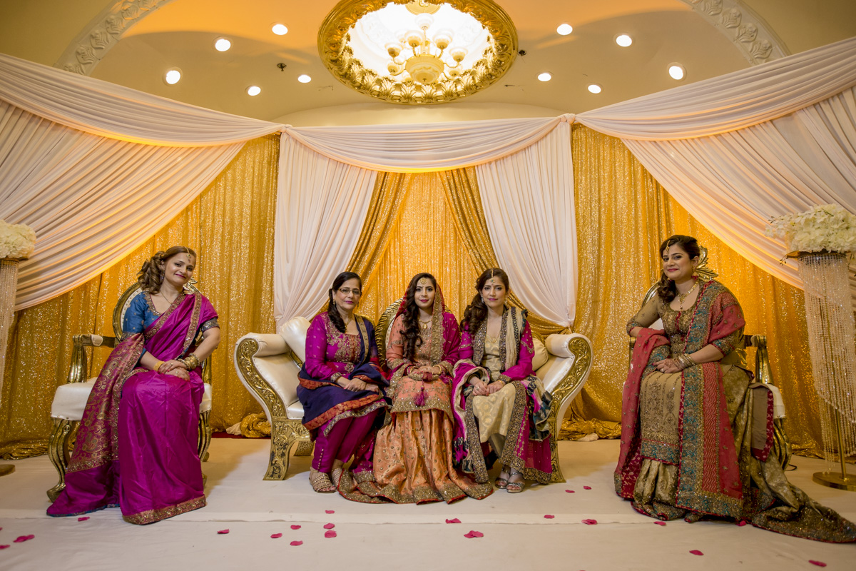 Colorful Indian wedding costume
