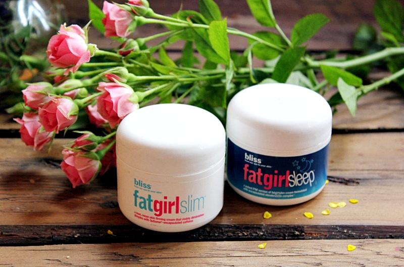 Антицеллюлитный уход для тела серия Fat Girl от Bliss - Антицеллюлитные кремы (дневной и ночной) Bliss Fatgirlslim и Bliss Fatgirlsleep / обзор, отзывы