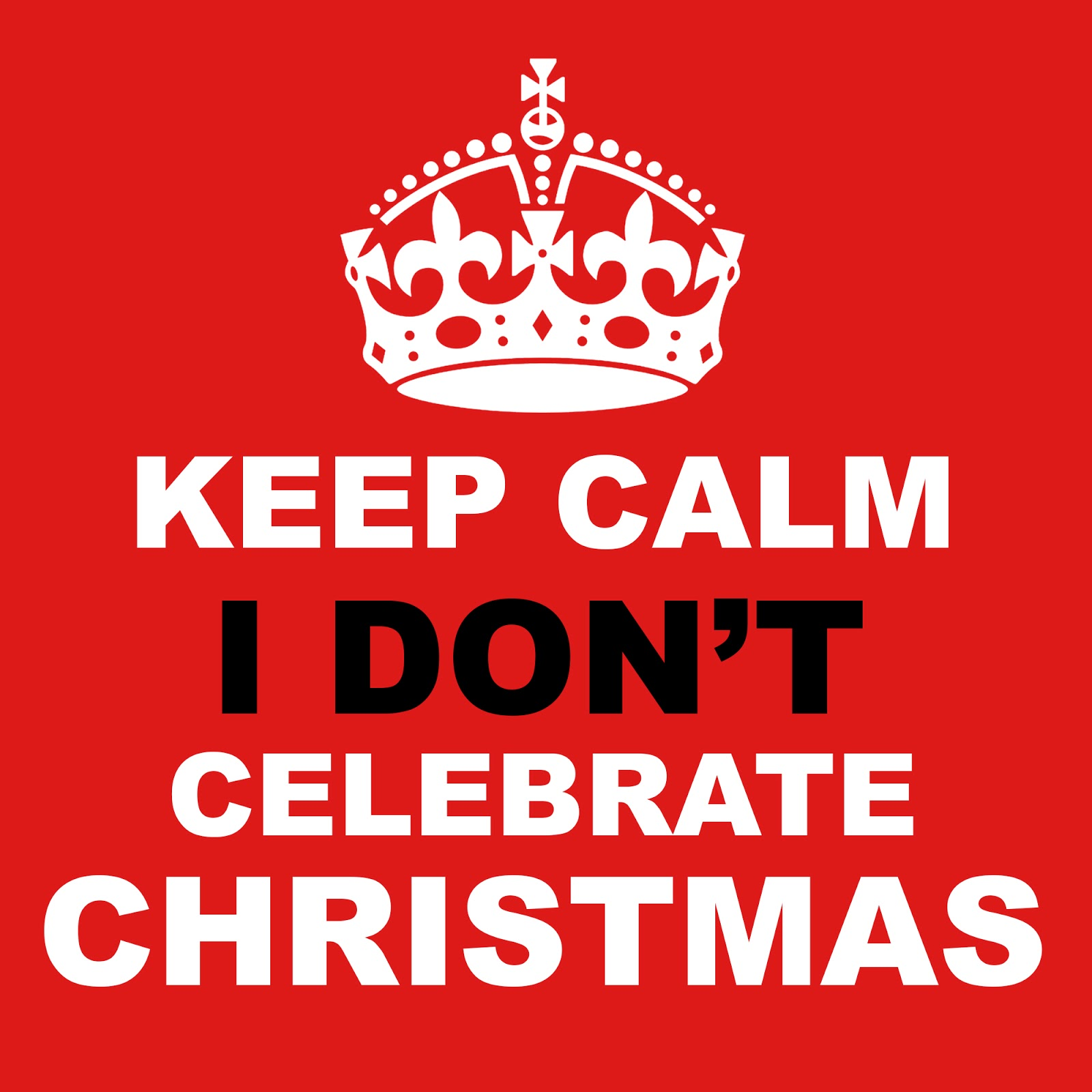 I DON'T CELEBRATE CHRISTMAS | DAILY FOCAL