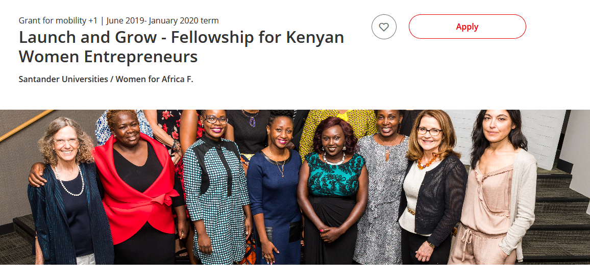 Launch And Grow Fellowship For Kenyan Women Entrepreneurs 2019 2020 Funded To The Us