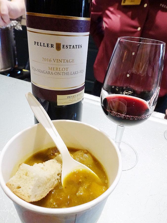 Peller Estates Private Reserve Merlot 2016 (88+ pts) with curried lamb, butternut squash & lentil stew