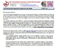 Consentimiento registro en servicios en línea
