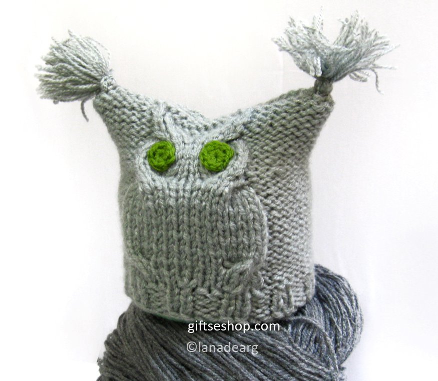 Lana Creations My Knitting Work Knit Project And Free Patterns Custom Free Owl Hat Knitting Pattern