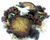 Southern-Style Pinto Beans with Rice and Fried Eggplant