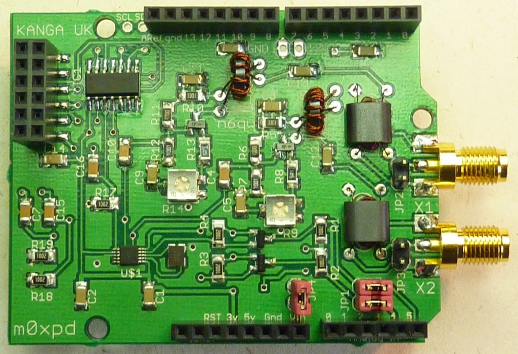 m0xpd's 'Shack Nasties': Si5351 Shield Production PCBs