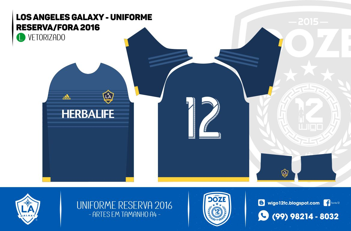 Uniforme Los Angeles Galaxy 2016 cf9b839350b43