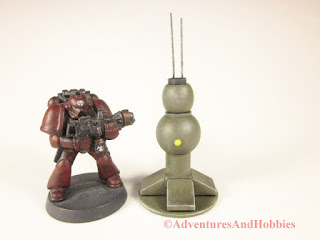 T1553 field cummunications node for 25-28mm scale miniature wargames - front view.