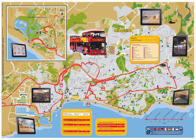 Albufeira route map