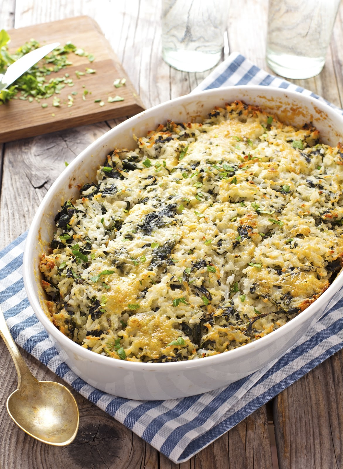 The Best Baked Spinach Rice