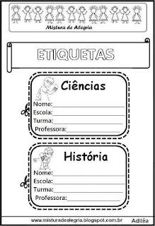 Etiquetas para cadernos Ben 10