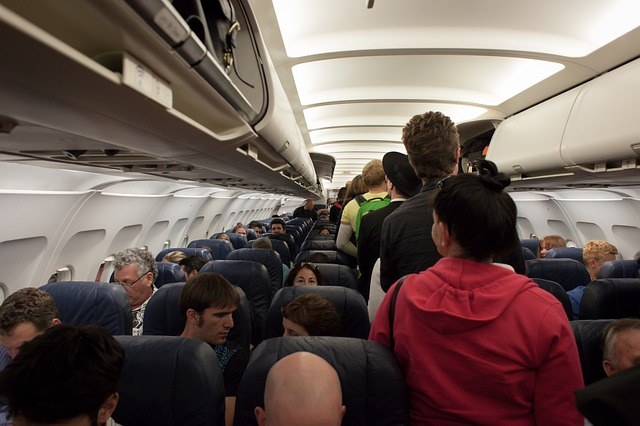 view of inside aeroplane