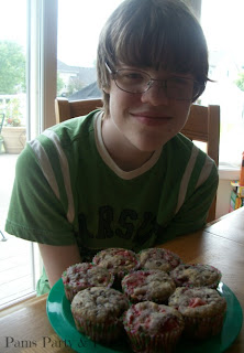 Chocolate Strawberry Muffins, Cooking with Kyle