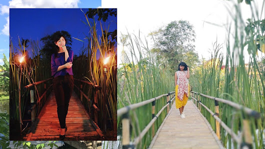 Bamboo Bridge, New Instagrammable Spot at Projomino - Projomino Resto & Outbound