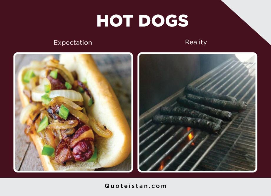 Expectation Vs Reality: HOT DOGS