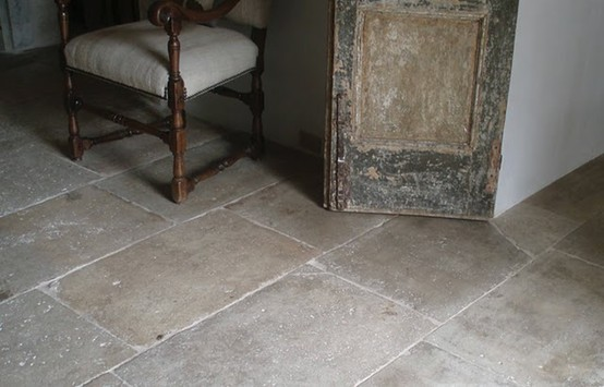 Reclaimed limestone from Paris Ceramics in The Enchanted Home Tina's kitchen