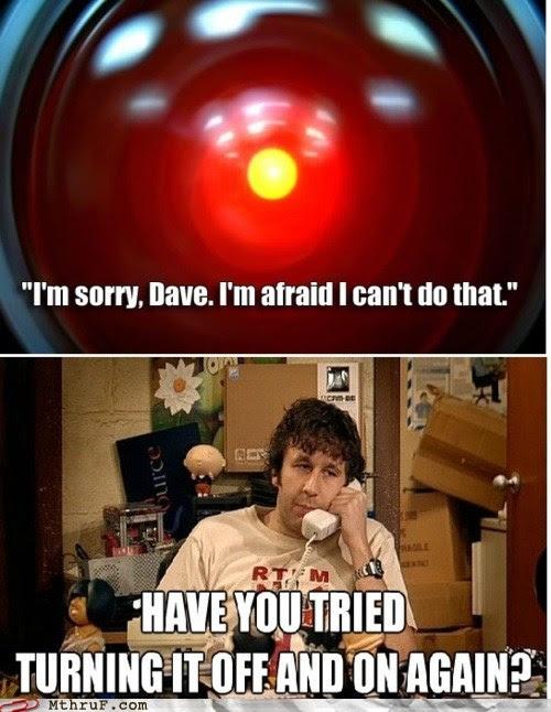 Meme de humor sobre 2001. Una odisea del espacio
