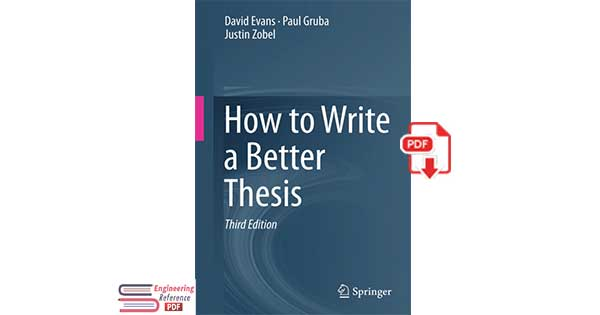 How to Write a Better Thesis Third Edition